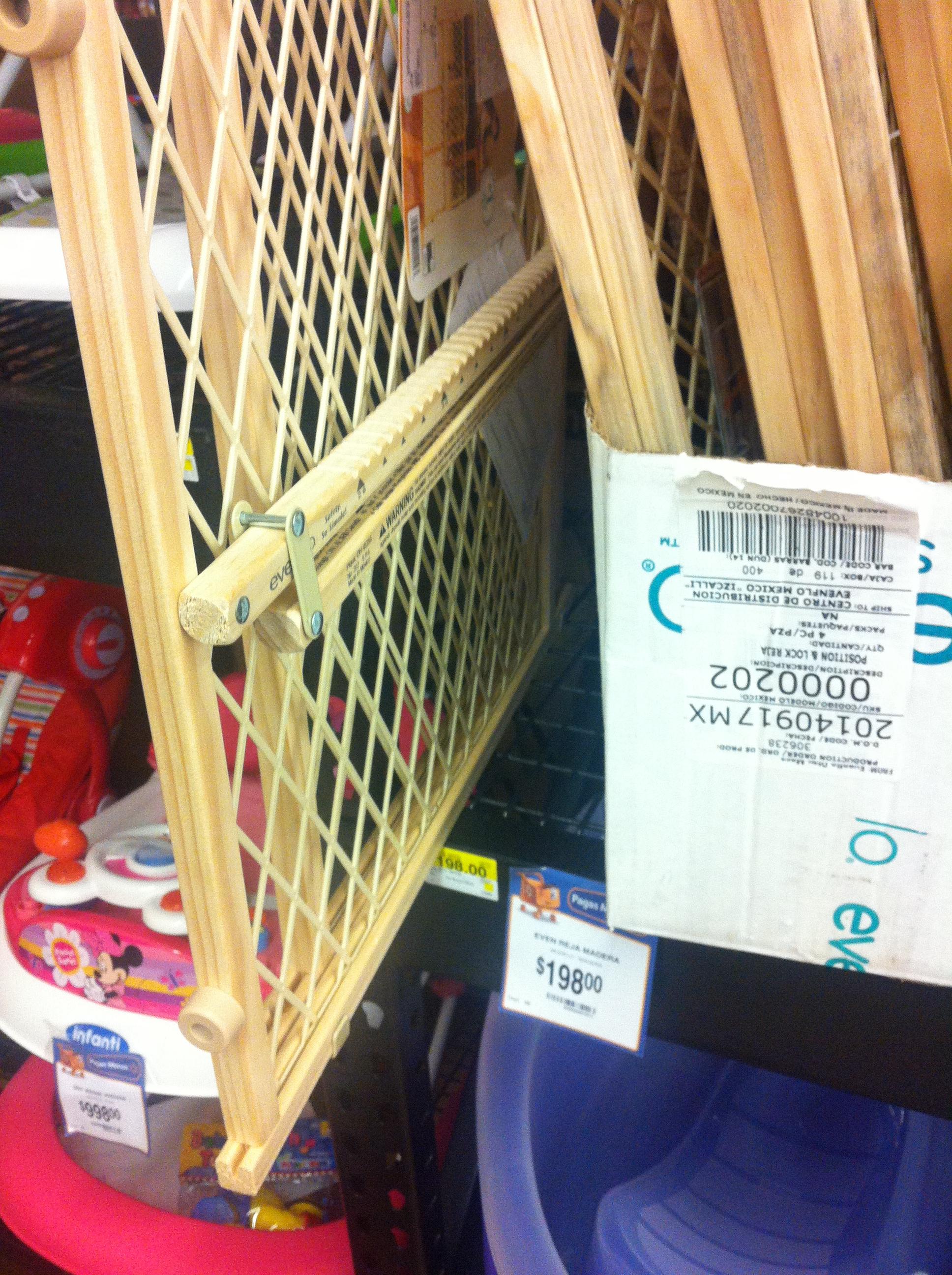 Walmart: reja de seguridad para bebés $198