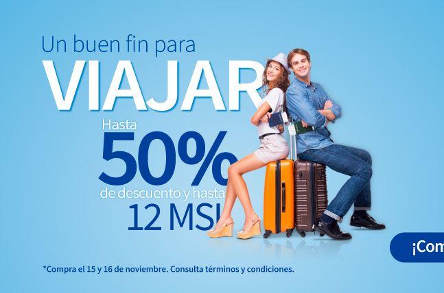 Adelantos Buen Fin 2017 Interjet: hasta 50% de descuento más 12MSI