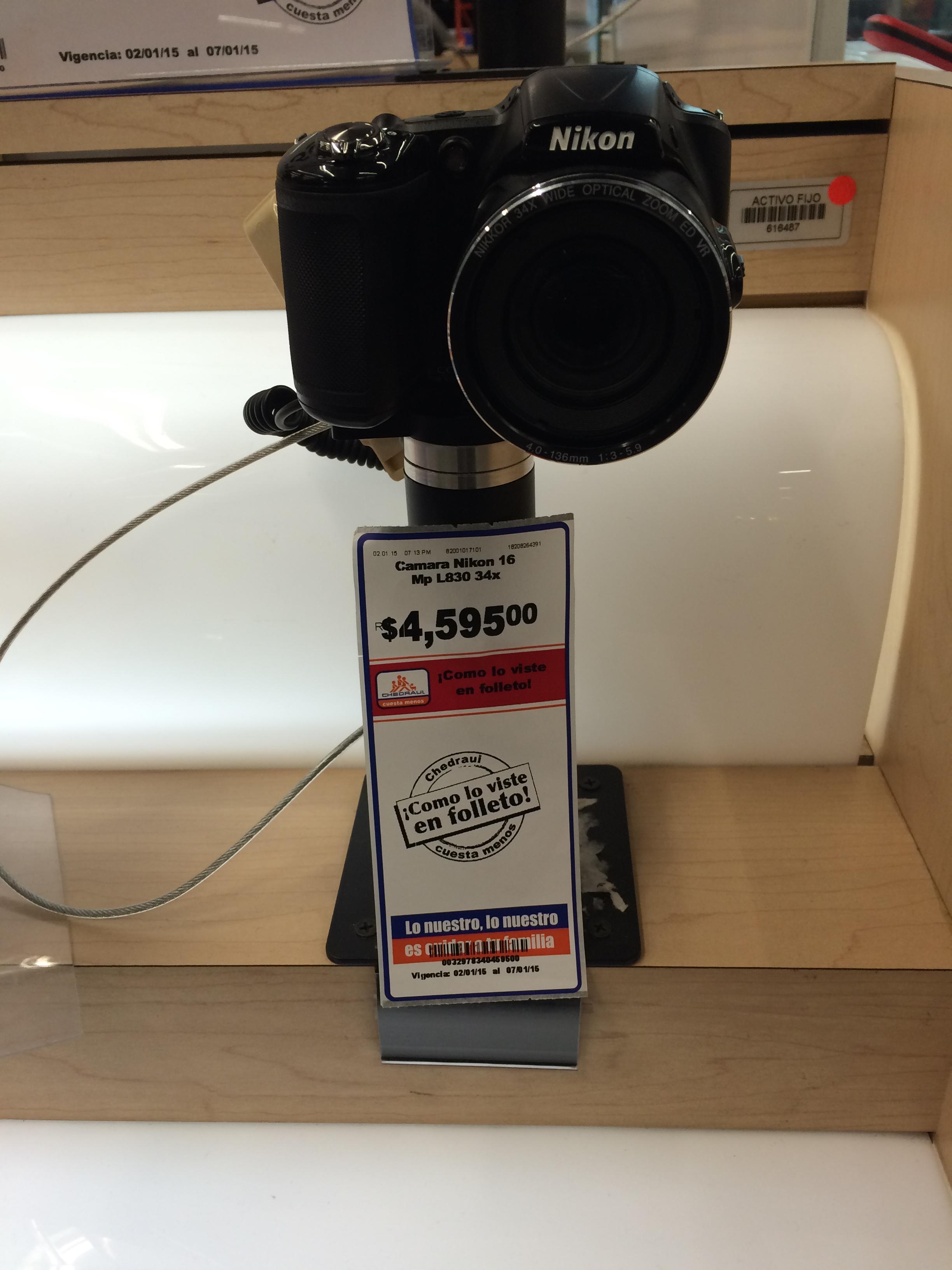 Chedraui: cámara Nikon L830 a $4,595