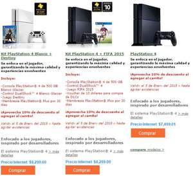 Sony Store México: PS4 $6,749