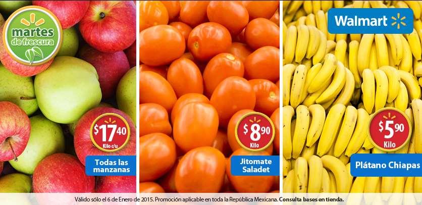 Martes de frescura en Walmart enero 6: plátano $5.90 el kilo y más