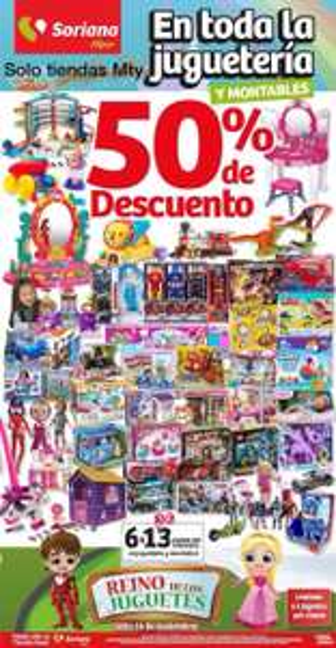 Pre Buen Fin 2017 en Soriana Hiper: 50% de descuento en todos los juguetes y montables