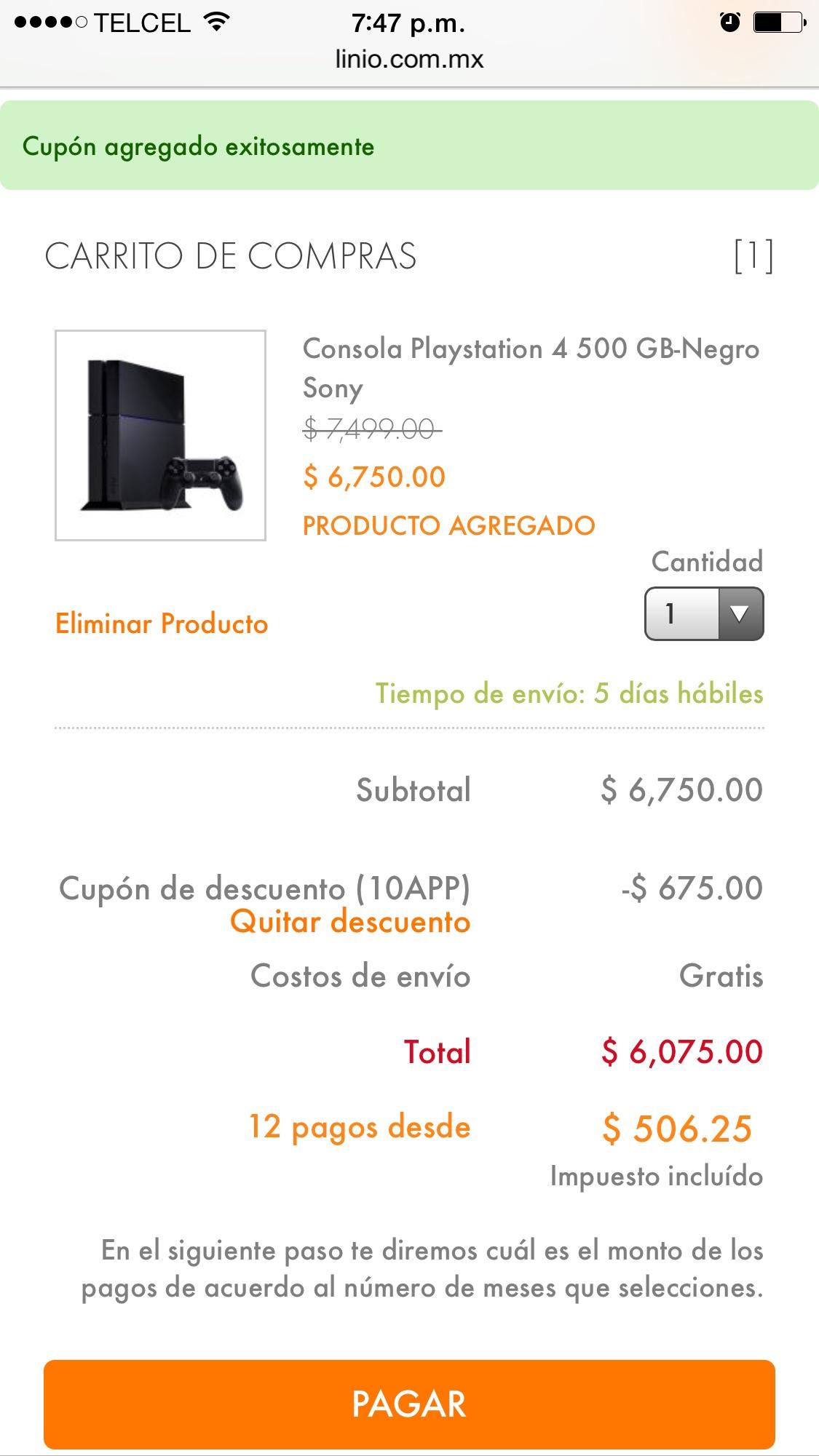 Linio: PS4 nueva en $6,075.00 envió gratis en linio