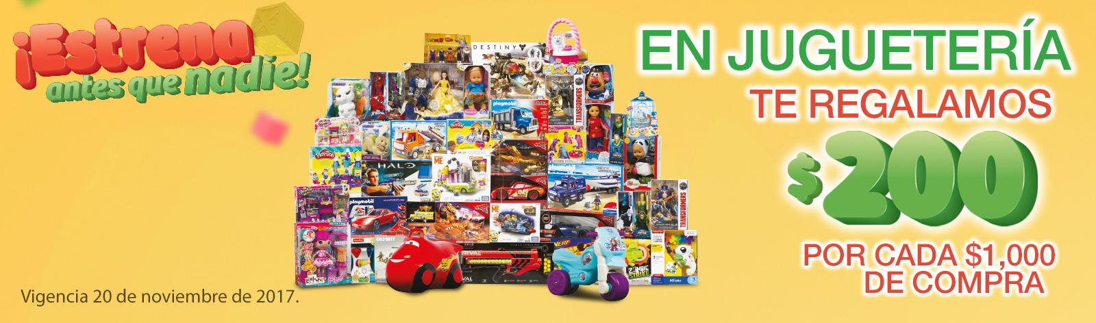 Ofertas del Buen Fin 2017 en Comercial Mexicana y MEGA: $200 de descuento por cada $1,000 en juguetería