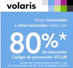 Promociones El Buen Fin 2017 en Volaris: hasta 80% de descuento con vclub