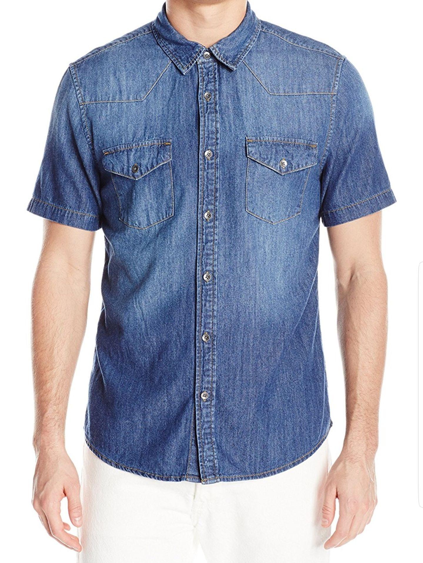 Amazon: Camisa Guess Slim Denim Shirt