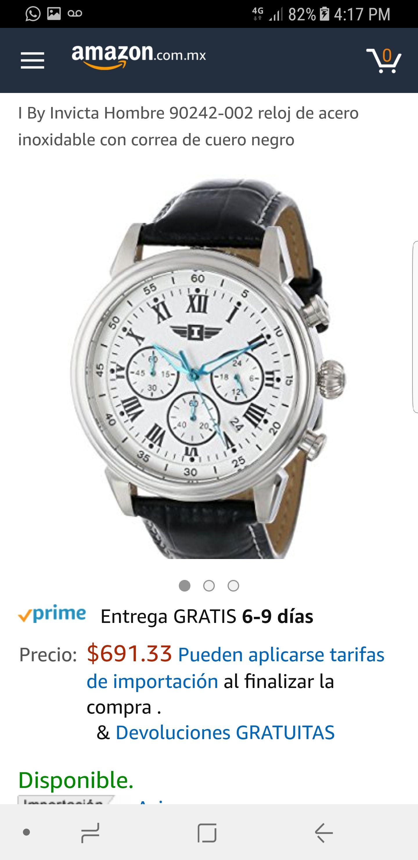 Amazon: Reloj invicta regalado