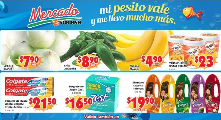 Ofertas de frutas y verduras en Soriana 1 y 2 de abril