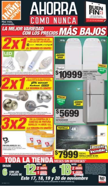 Folleto de ofertas del Buen Fin 2017 en Home Depot