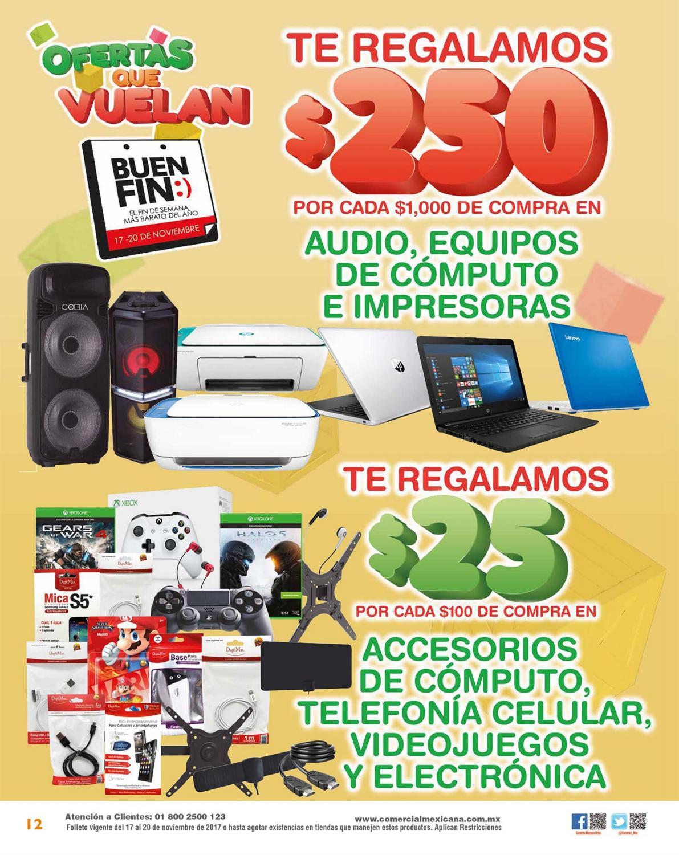 Ofertas de El Buen Fin en Comercial Mexicana y MEGA: Folleto válido durante el buen fin