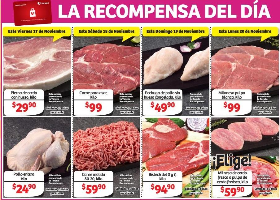 Soriana Hiper y Super: Recompensas en carnes durante el Buen Fin