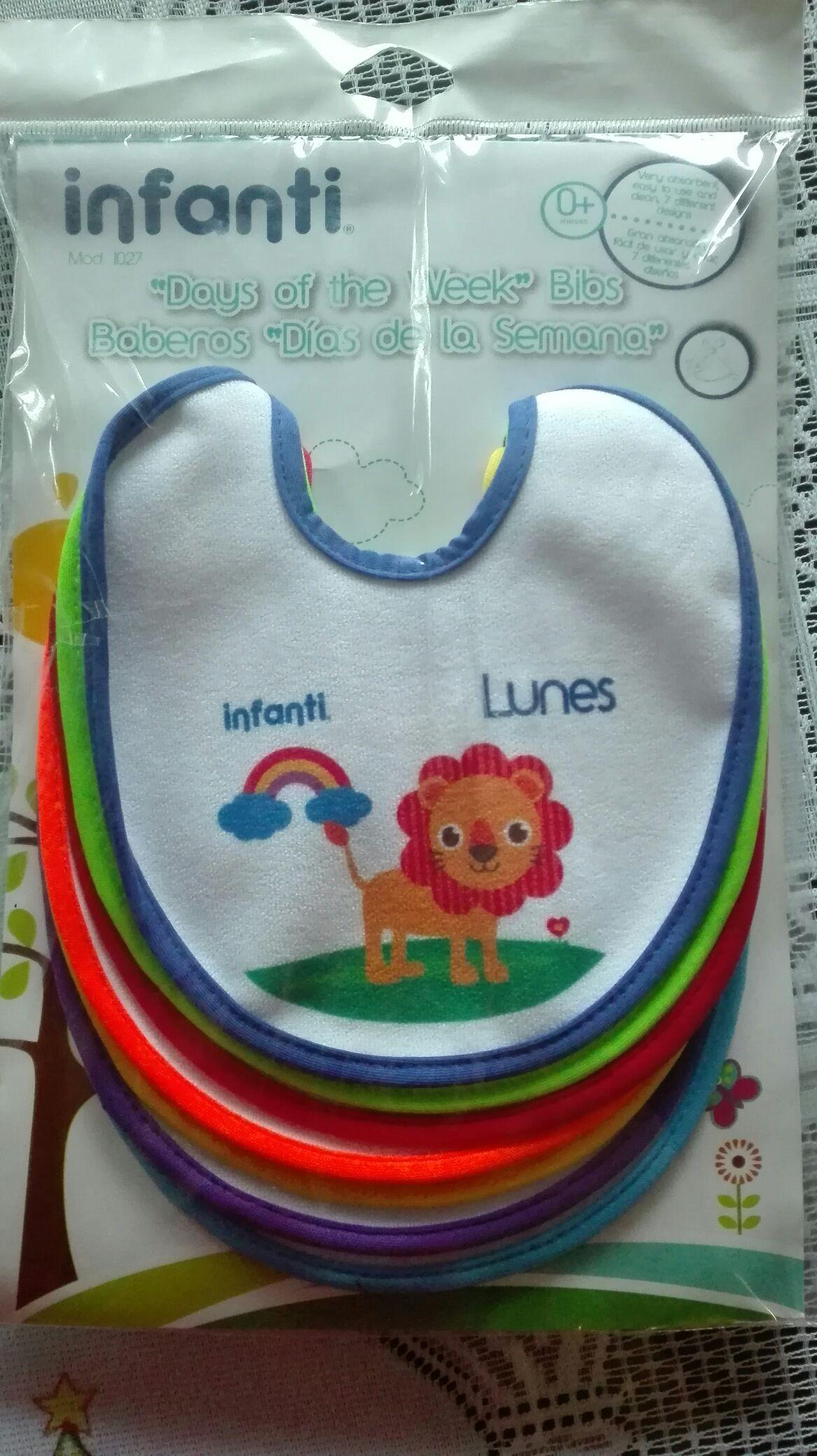 Walmart: baberos para bebe infanti (7piezas). Última liquidación!