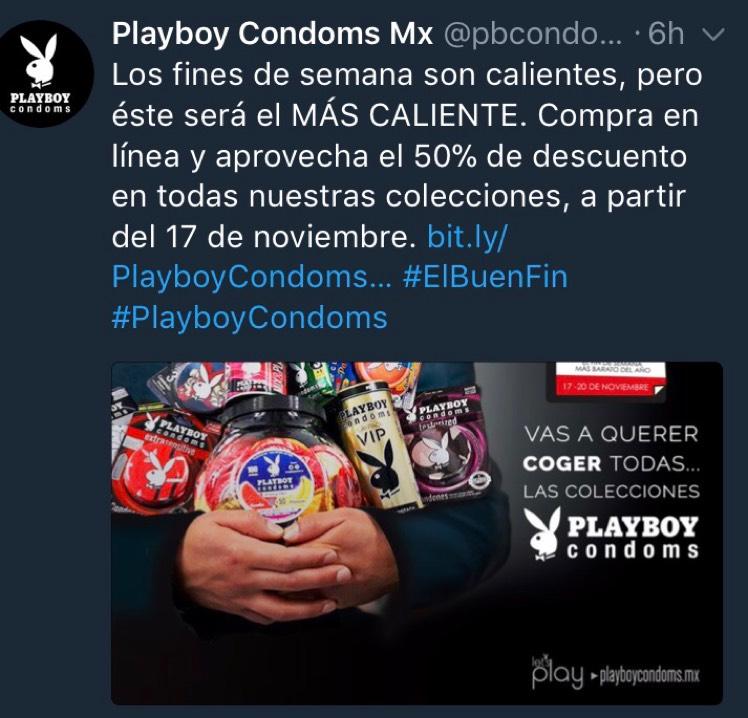 El Buen Fin 2017 en Playboy Preservativos: 50% descuento en condones playboy