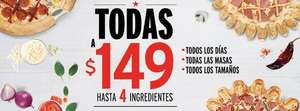 Pizza Hut: Todas las pizzas a $149