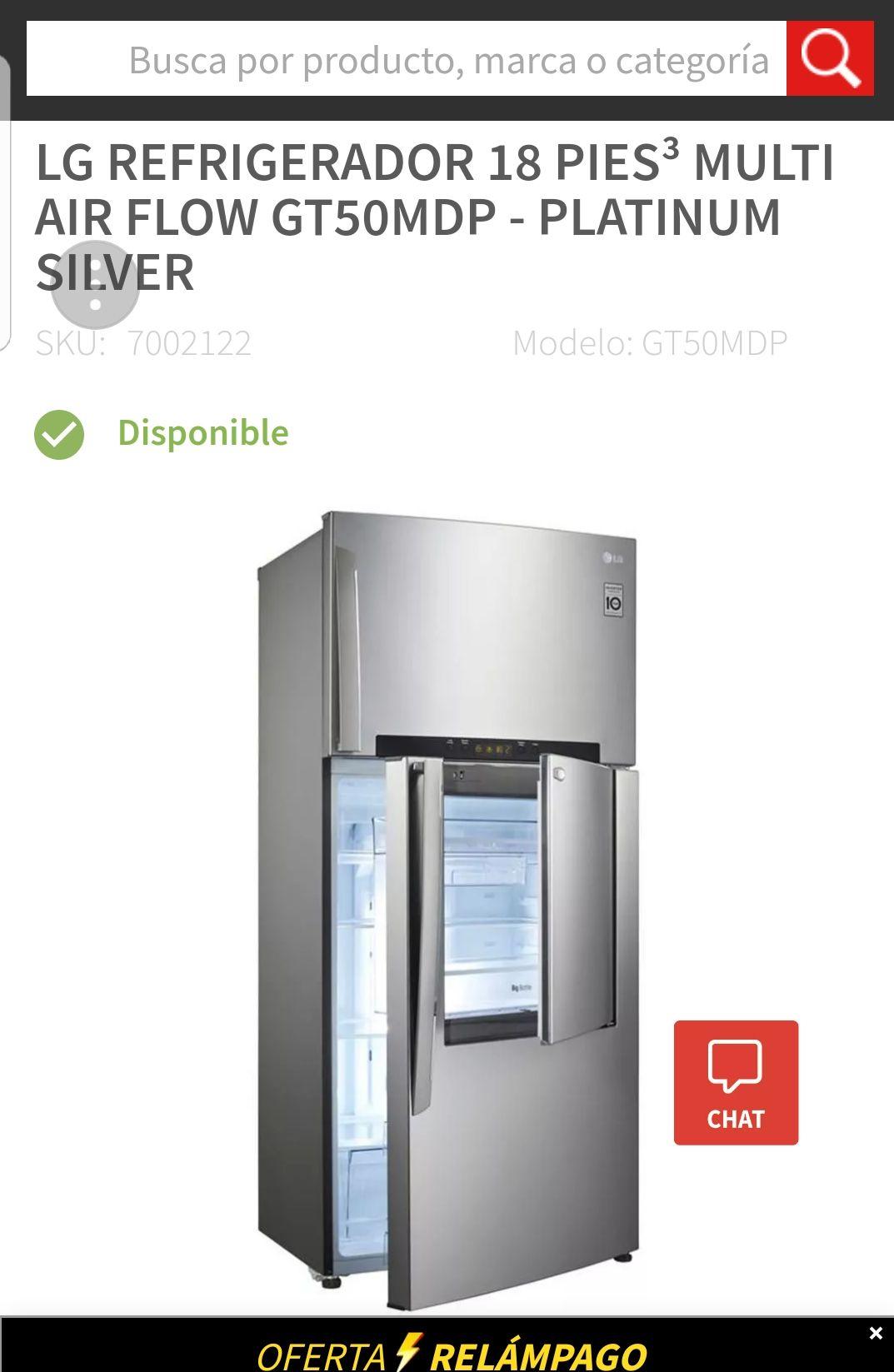 El Buen Fin 2017 en Elektra: Refrigerardor LG 18 pies en oferta relampago