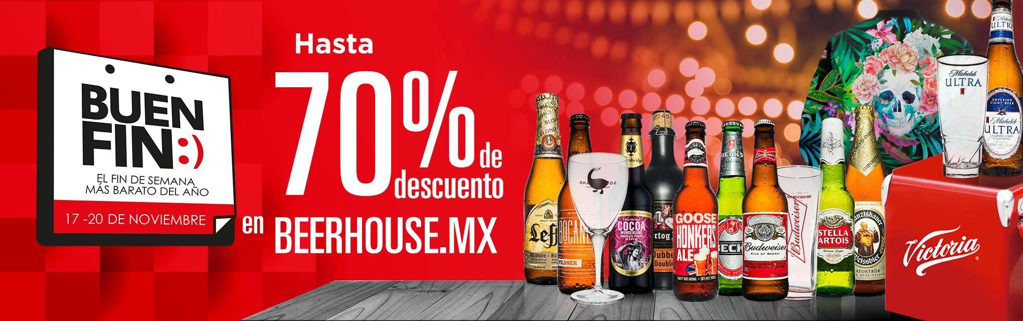 Beerhouse: Cervezas, Cristaleria, Beerpacks y algunos otros productos con hasta el 70% de descuento