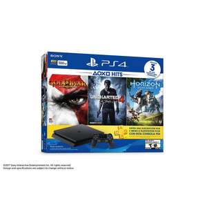 Elektra: Consola PlayStation 4 Slim, 500 GB, con Juegos Horizon Zero Dawn, God of War 3 Remastered, Uncharted 4 pagando con CitiBanamex + 12 MSI