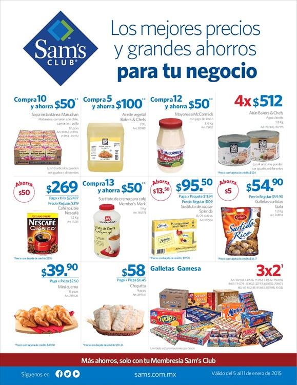 """Sam's Club: oferta para """"tu negocio"""" del 5 al 11 de enero"""