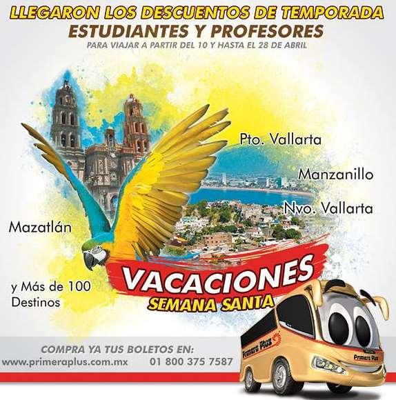 Descuento de estudiantes y maestros en autobuses Semana Santa (ETN, ADO y más)