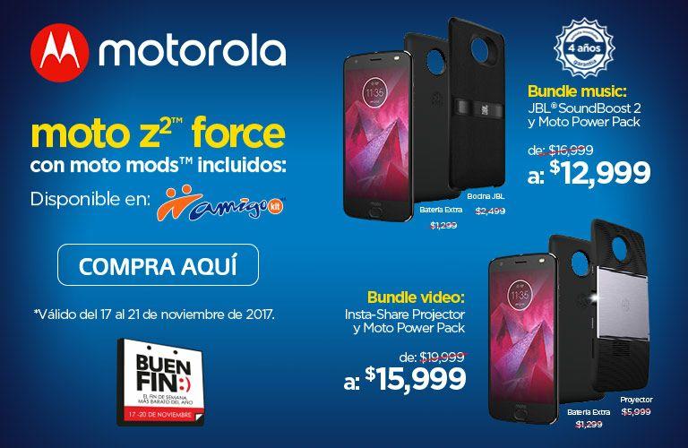 Telcel: Moto Z2 Forcé + Mod Bocina V2 + Mod Batería V2 + 12 meses sin intereses
