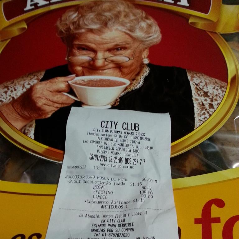 City Club: Rosca de reyes familiar en $50