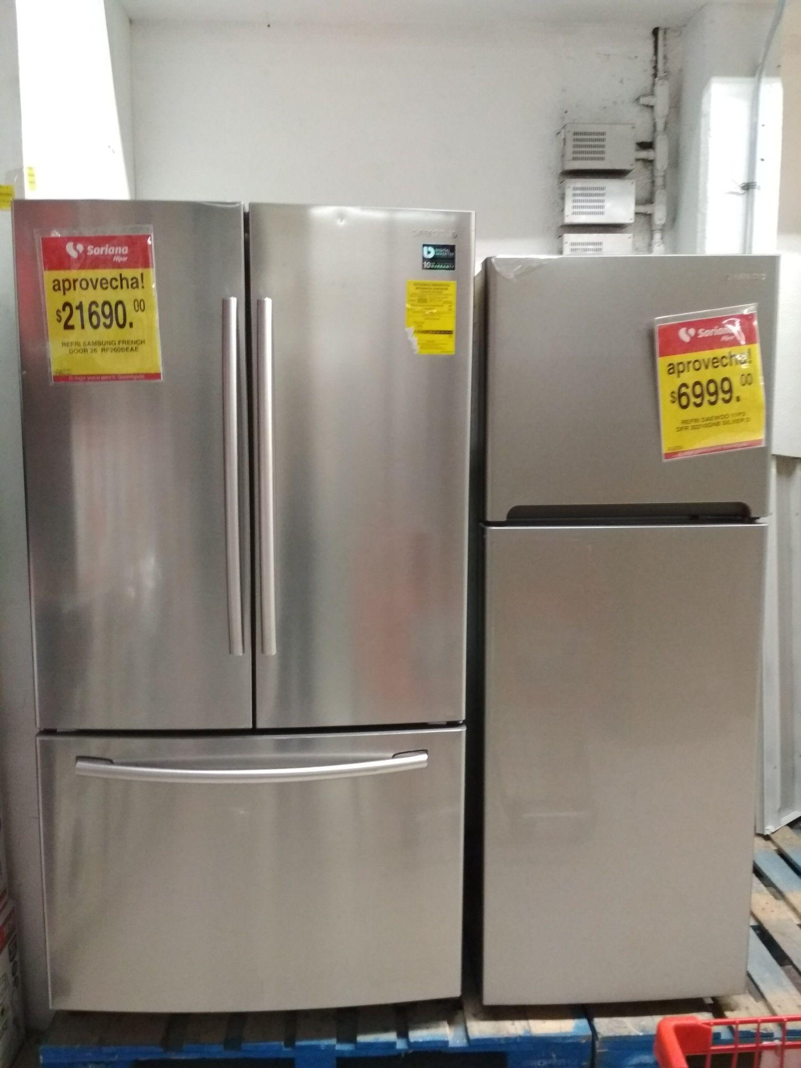 Soriana hiper: Refrigerador French Door 26 pies cúbicos 70% de descuento