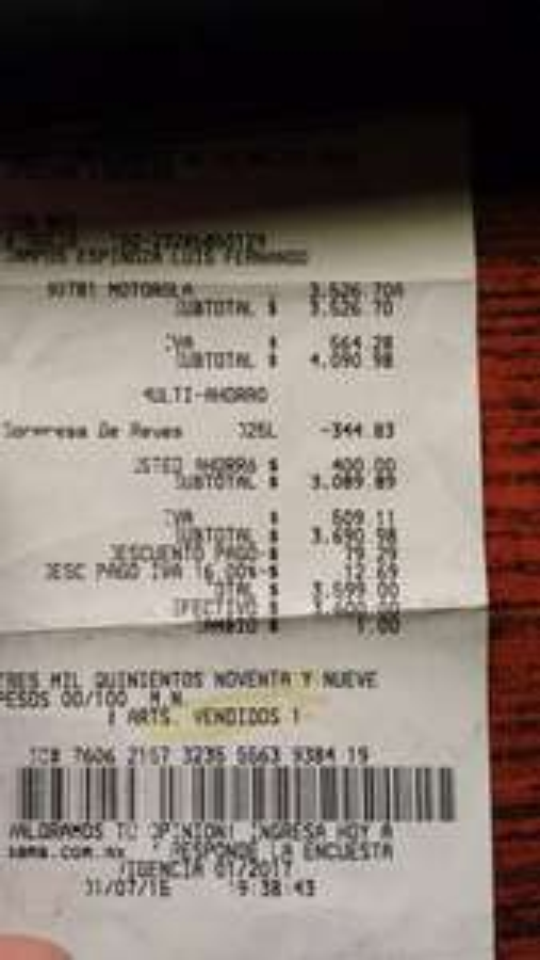 Sam's Club: celular Motorola Moto G 2da Gen Telcel $3599