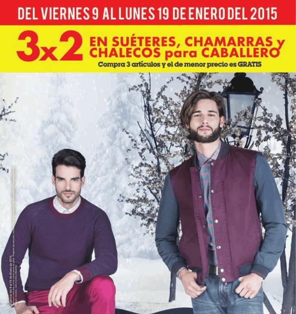 Sears: 3x2 en suéteres, chamarras y chalecos para hombre