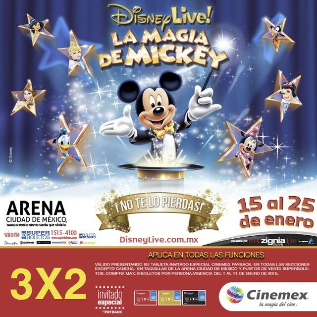 """3x2 en boletos para Disney Live """"La Magia de Mickey"""" con tarjeta Inivitado Especial (DF)"""