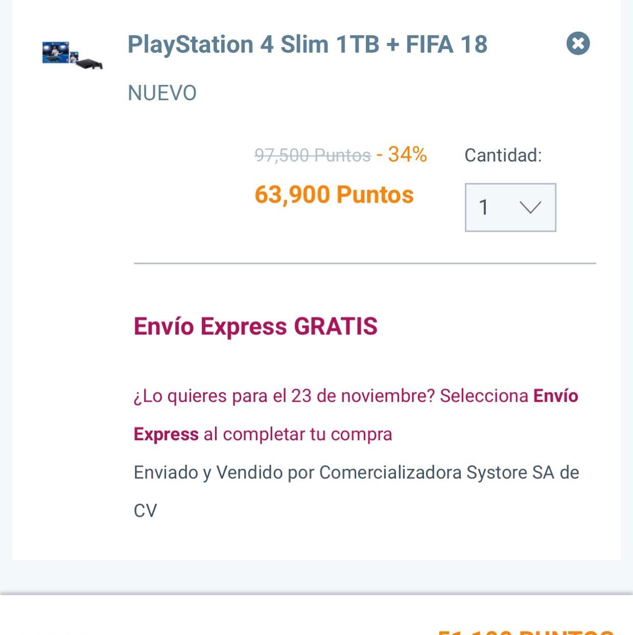 Ofertas Buen Fin 2017 Club Premier: PS4 Slim + FIFA 2018 + Envió gratis 51,100 Puntos Premier