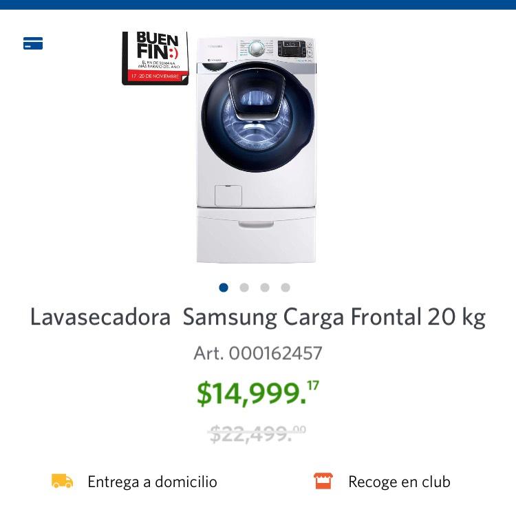 BUEN FIN SAMS Lavasecadora Samsung Carga Frontal 20kg NO REQUIERE GAS
