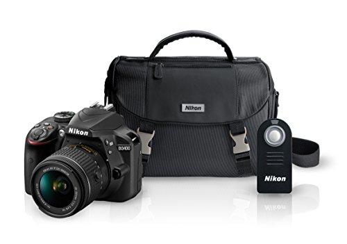 Ofertas Buen Fin 2017 Amazon: Nikon Kit Cámara D3400 + Lente + Estuche + SD Card + Control Remoto