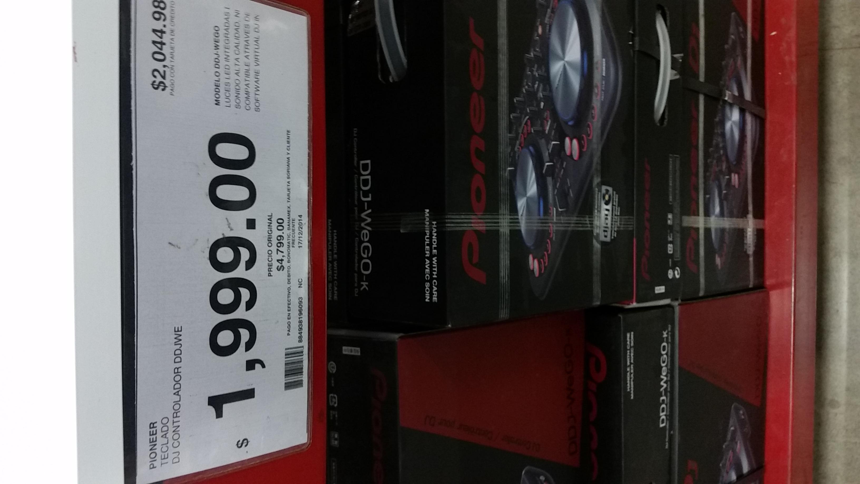 City Club: controlador DJ Pioneer DDJ-WeGO-k $1,999.00