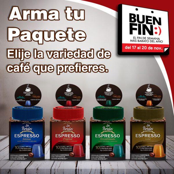 ofertas buen fin 2017 Tienda los Portales: capsulas compatibles con nespresso