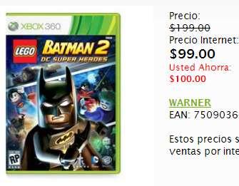 Sanborns: LEGO Batman 2 o Lollipop Chainsaw $99, Darkness II $209 y más ofertas