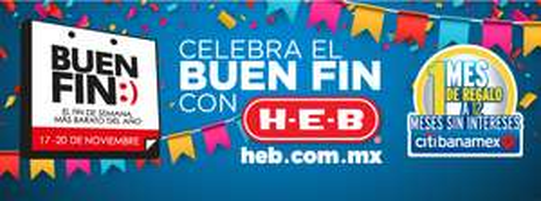 El buen fin 2017 en HEB (online): 3x2 en Cosméticos, -$25x$100 en vinos y licores, electrodoméstico gratis comprando otro electrodoméstico entre otras promociones
