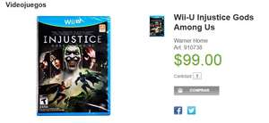 Sam's Club: Injustice para Wii U 99 pesos