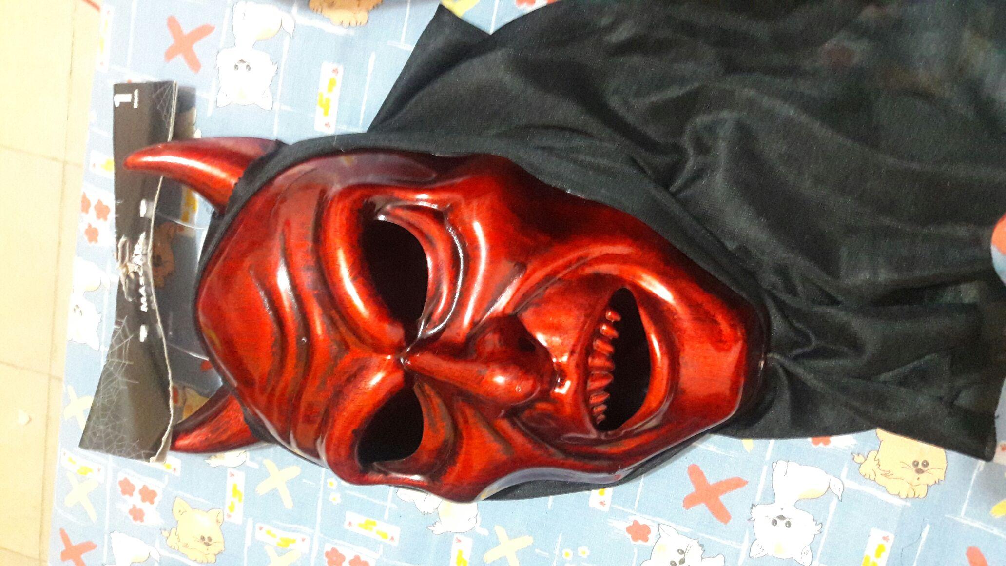 Walmart: mascara de diablo y más (maquillaje Halloween 2.51, frazada para Cunero, chupón y  leggin terminación .01 camisa para hombre terminación .02)