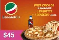 Cupones para benedetti´s pizza válidos todo el año
