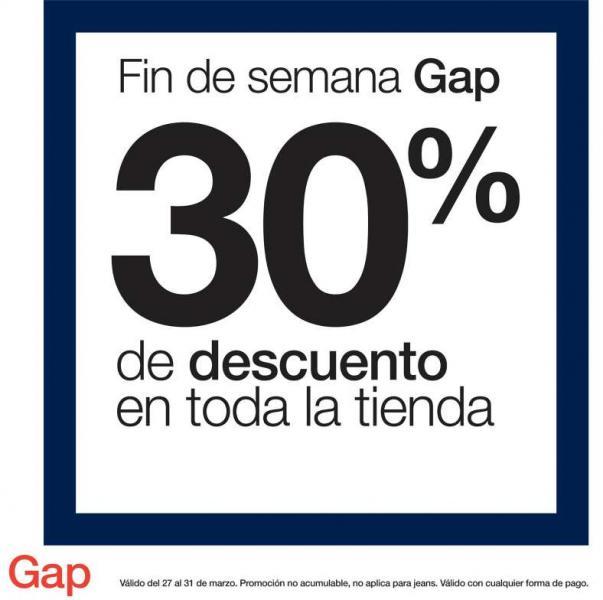 Gap: 30% de descuento en toda la tienda
