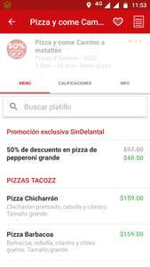 Sin Delantal: vendedor Pizza y come, pizza grande de pepperoni $48.50