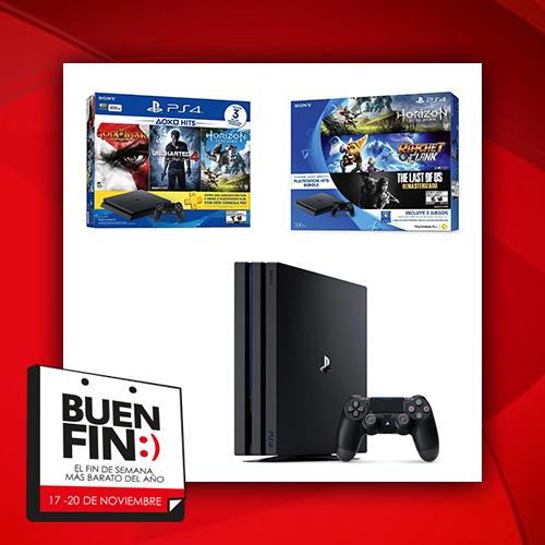 El Buen Fin 2017: resumen de mejores ofertas consolas PS4
