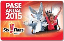 Pase anual Six Flags 2015 y 2014 por $519 ó $489