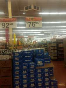 Walmart vado del río Hermosillo: 12 pack Bud Light