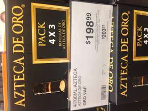 Sam's Club: Brandy Azteca de Oro 700ml 4 x $200