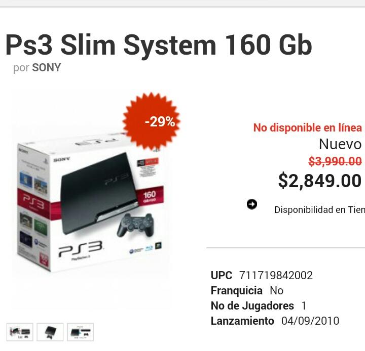 GamePlanet: Ps3 Slim 160gb solo en tienda física