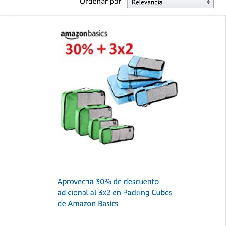 Buen Fin 2017 en Amazon: organizadores de equipaje AmazonBasics 3x2 + 30% de descuento