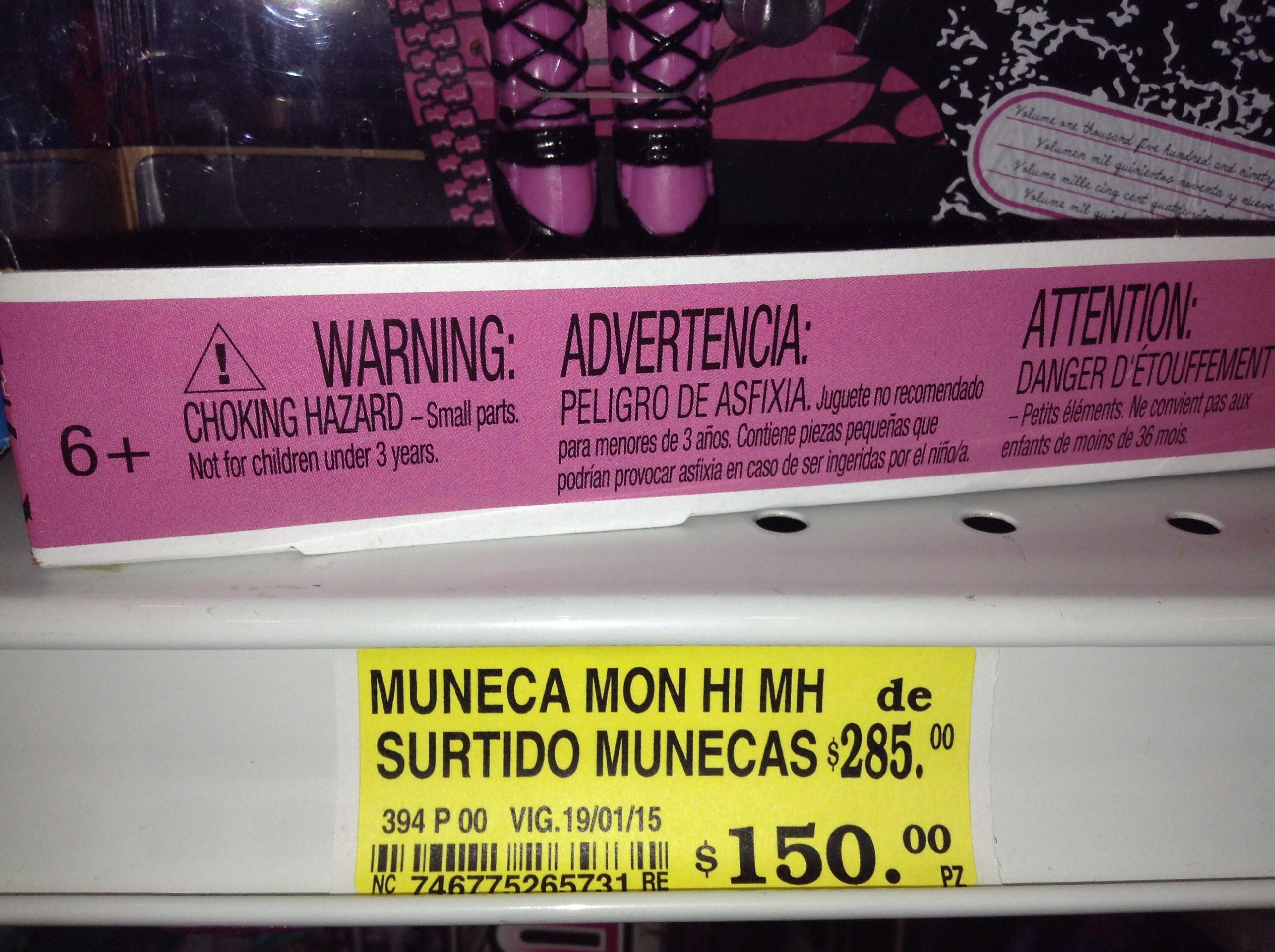 Soriana: variedad muñecas Monster High $150