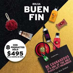 Buen fin 2017 en The Body Shop: 3x$495 y bolsa con 8 productos
