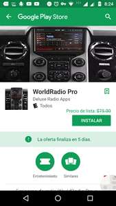 "Google Play: GRATIS   ""WorldRadio Pro""."
